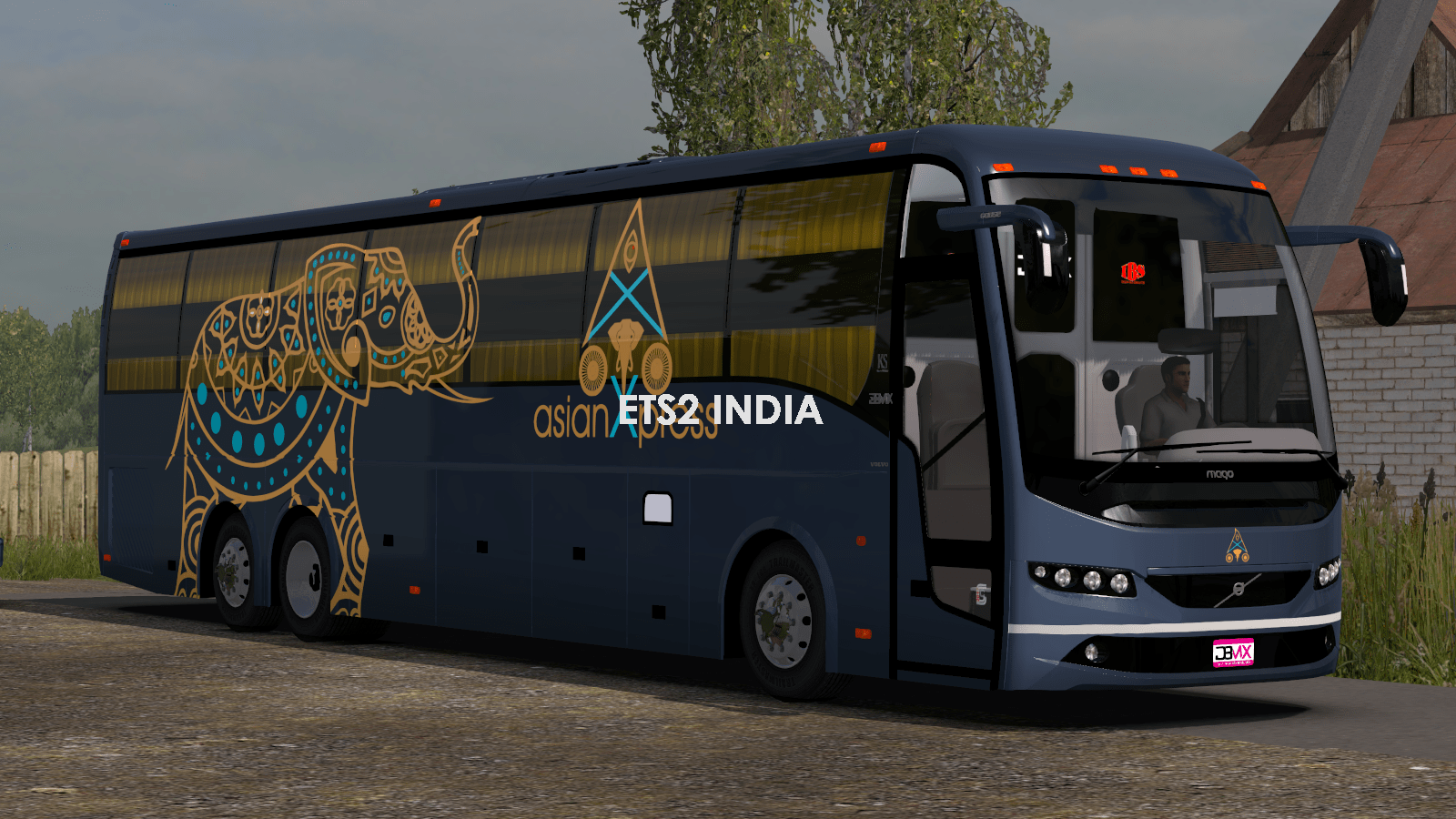 Asian Express Sleeper Bus Elephant Livery