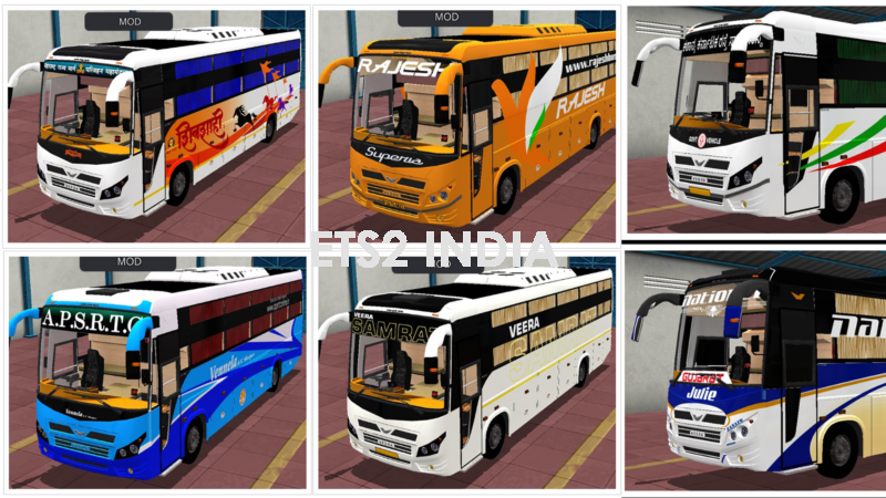 VEERA V7 BUSSID SKINPACK AND TEMPLATE